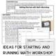 Guided Math Workshop Starter Pack