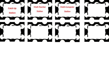 Guided Math Station Descriptions and Labels