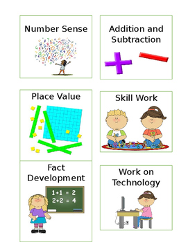 Guided Math Station Rotation Cards