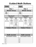 Guided Math Station Templates for Planning