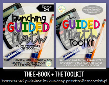 Guided Math & Stations - Organizational Resources + FREE e-Book