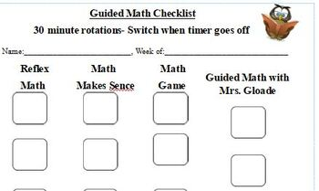 Guided Math Student form