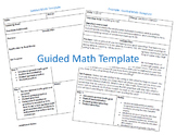 Guided Math Template and Example