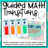 Guided Math Transitions