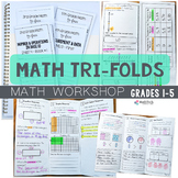 Guided Math Tri-folds - Grades 1-5 - Practice & Assessment