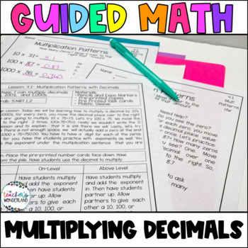 Guided Math- Unit 4 Multiplying Decimals