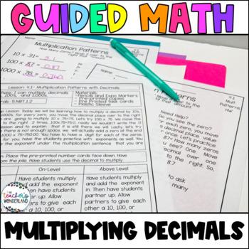 Guided Math- Unit 4 Multiplying Decimals