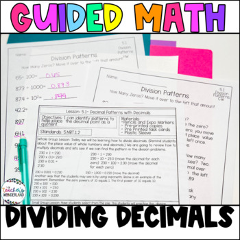 Guided Math- Unit 5 Dividing Decimals