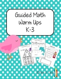 Guided Math Warm Up Sheets