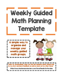 Guided Math Weekly Planning Template