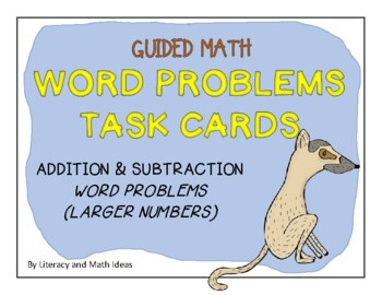 Guided Math (Word Problems) Level 1B