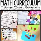 Guided Math Workshop 1st Grade Curriculum BUNDLE