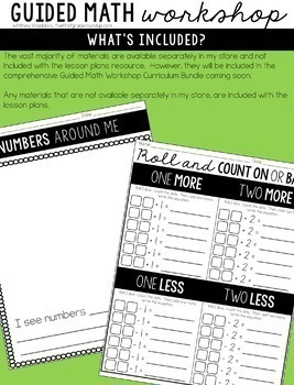 Guided Math Workshop Lesson Plans for First Grade