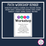Distant Learning Guided Math Workshop Organization - Editable Pages