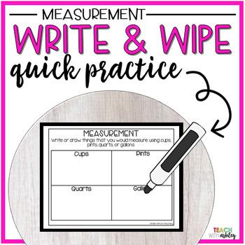 Guided Math Write & Wipe Measurement