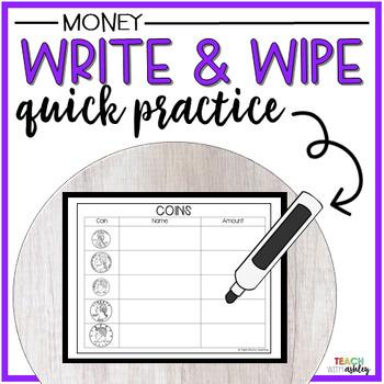 Guided Math Write & Wipe Money