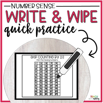 Guided Math Write & Wipe (Number Sense)