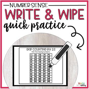 Guided Math Write & Wipe Number Sense