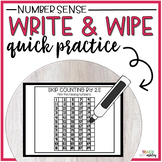 Guided Math Write & Wipe Number Sense