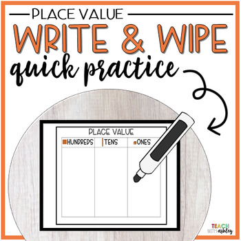 Guided Math Write & Wipe Place Value
