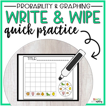 Guided Math Write & Wipe Probability & Graphing