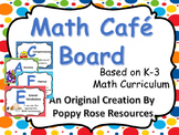 Guided Math Writing and Problem Solving - Math CAFE Board