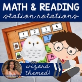 Guided Math and Reader's Workshop Station Rotations - Wizard Themed BUNDLE