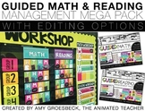 Guided Math and Reading Rotation Management Mega Pack BUNDLE with Timers