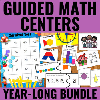 Guided Math Centers: Year-Long BUNDLE (Gr. 2/3)