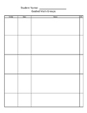 Guided Math groups recording sheet