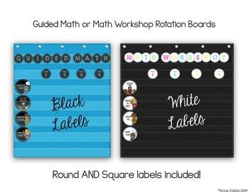 Guided Math or Math Workshop Rotation Board