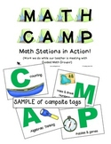 MATH CAMP - Guided Math & Math Centers/Workstations