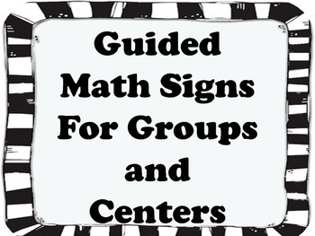 Guided Math signs, charts and systems