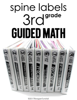 Guided Math Third Grade Spine Labels