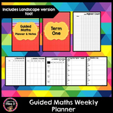 Guided Math Weekly Planner and and Data Log