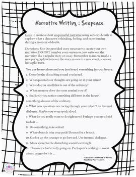 Narrative Essay Writing : Suspense