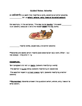Guided Notes - Adverbs