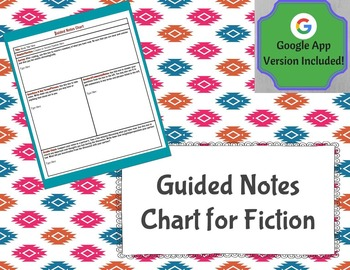 Guided Notes Chart for Fiction (Google Docs Version Included!)