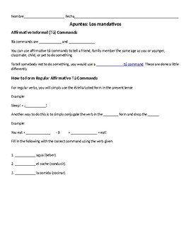 Guided Notes - Commands