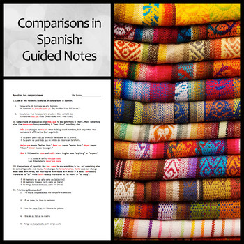 Guided Notes: Comparisons in Spanish