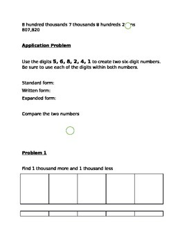 Guided Notes Engage NY Module 1 Lesson 6
