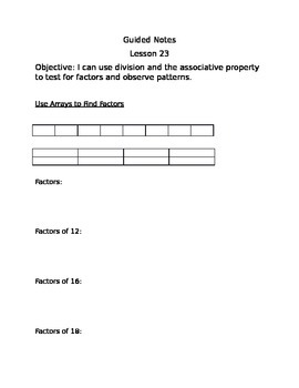 Guided Notes Engage NY Module 3 Lesson 23