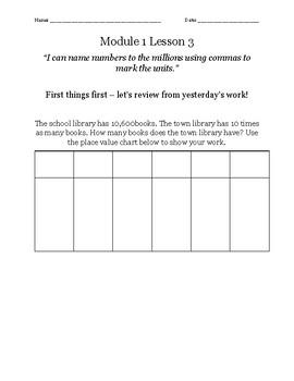 Guided Notes - Eureka Math Module 1 Lesson 3