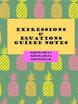 Guided Notes Expressions and Equations
