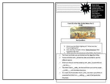 Guided Notes French & Indian War