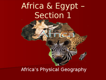 Guided Notes - Geography of Africa and Ancient Egypt - Jou