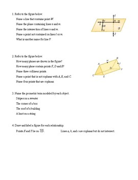 Guided Notes - Geometry - Unit 1 - Points, Lines, and Planes