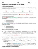 Guided Notes - Linear Inequalities in 2 Variables (Student & Teacher Versions)