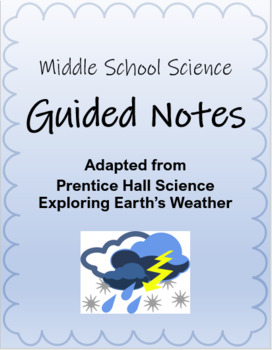 Guided Notes: Moisture in the Air (Humidity)- Weather & Climate Unit