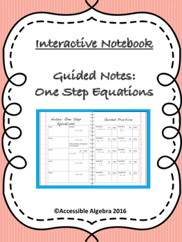 Guided Notes: One-Step Equations